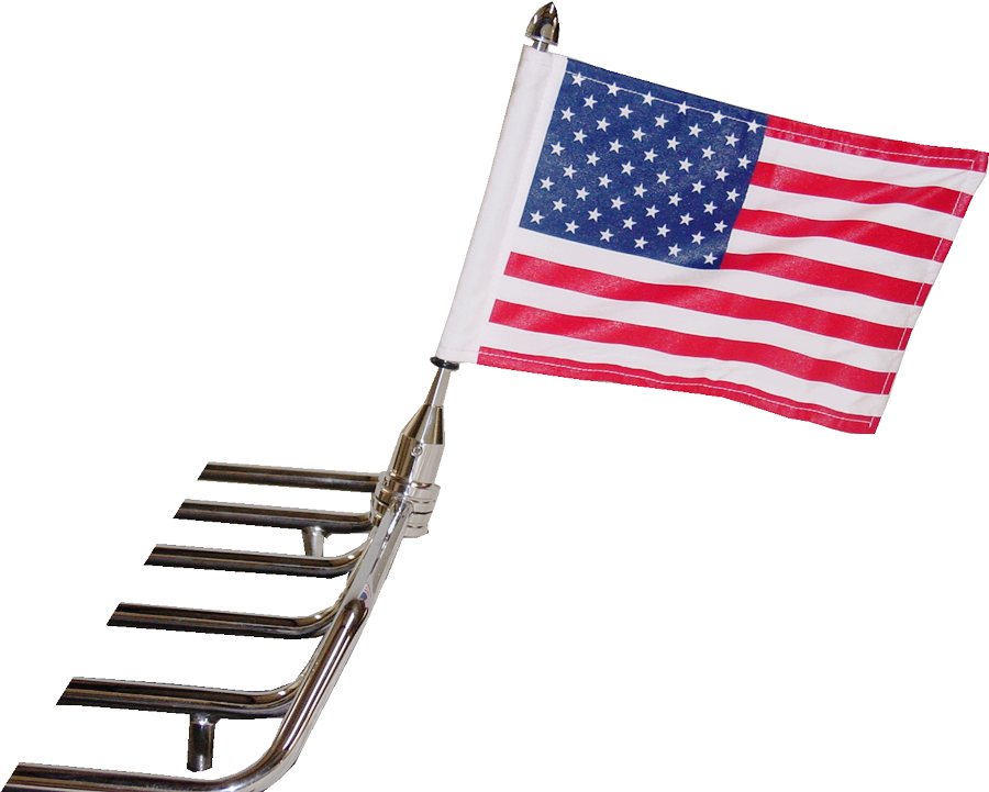"Tour Pak 1/2"" Flag Mount with 6""x9"" Highway Flag"