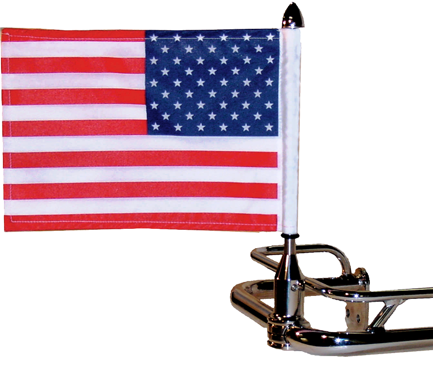 "Fixed Rear Saddlebag Rail Flag Mount (3/4"")"