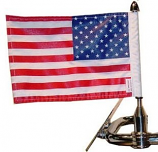 "Round License Plate Bar Flag Mount (7/8"")"