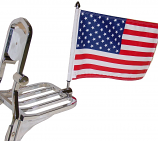 Rear Square Luggage Rack Flag Mount